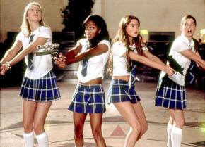 All Hail Queen Angela Robinson and Hot Girls In Short Skirts-2003